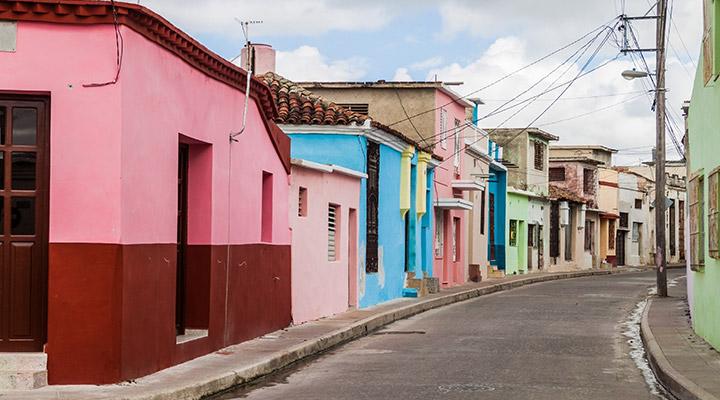 Cuba huizen in kleuren