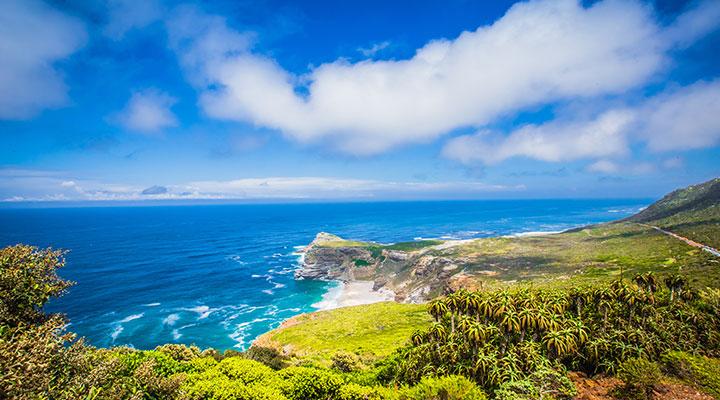 Uitzicht zee Zuid Afrika