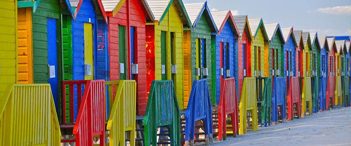 Kaapstad kleuren huizen