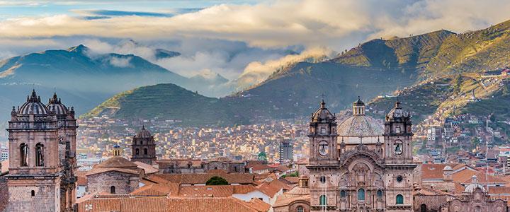 Cuzco koloniale gebouwen