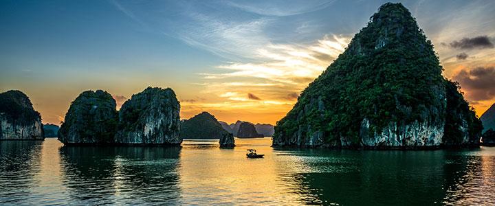 Uitzicht Halong Bay