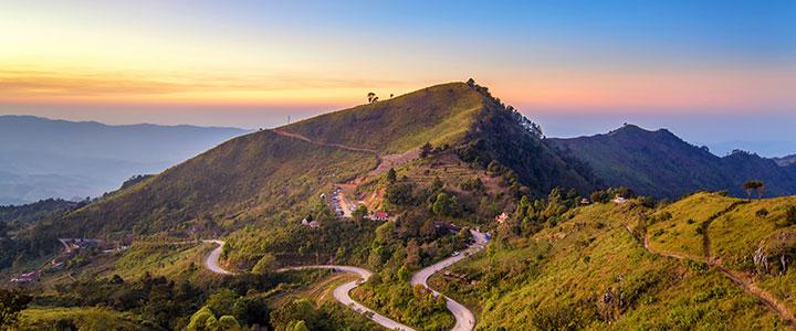 Chiang Rai overzicht bergen