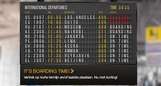 It's Boarding Time