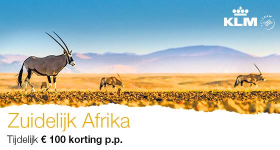Met KLM naar Zuidelijk Afrika