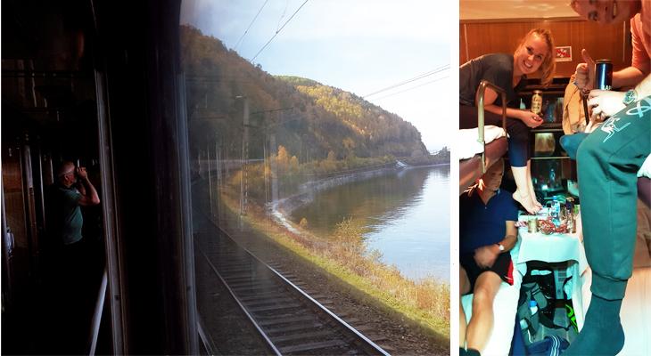 Trein tijdens Trans-Siberie-Express