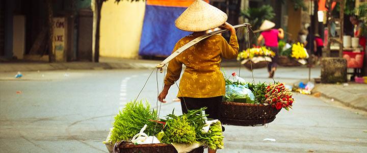 Verkoper in Vietnam
