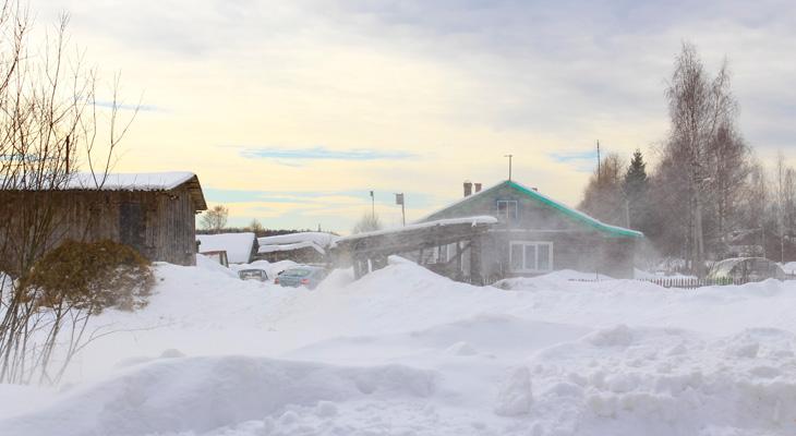 winterlandschap Rusland