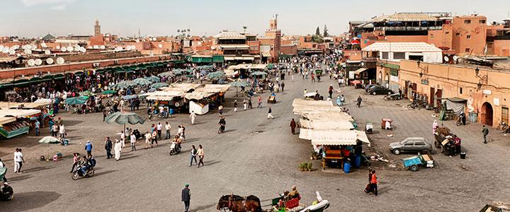 Djemaa el Fna groepsreis Marokko