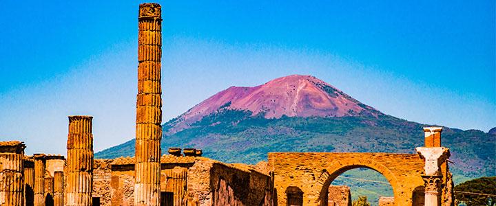 Vesuvius bij Pompeii