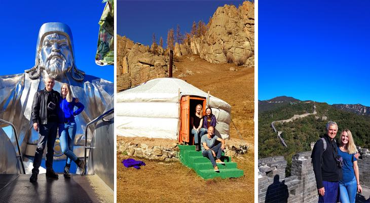Loudi Pot en vader in Mongolie