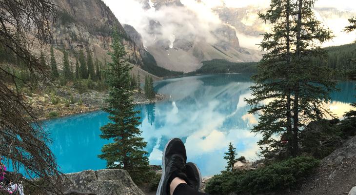 uitzicht op meer in canada op singlereis