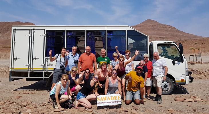 Groep in Namibië