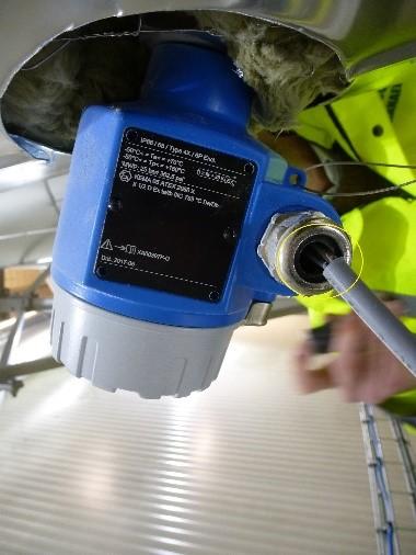 Foto 1: klembereik wartel komt niet overeen met de kabeldiameter
