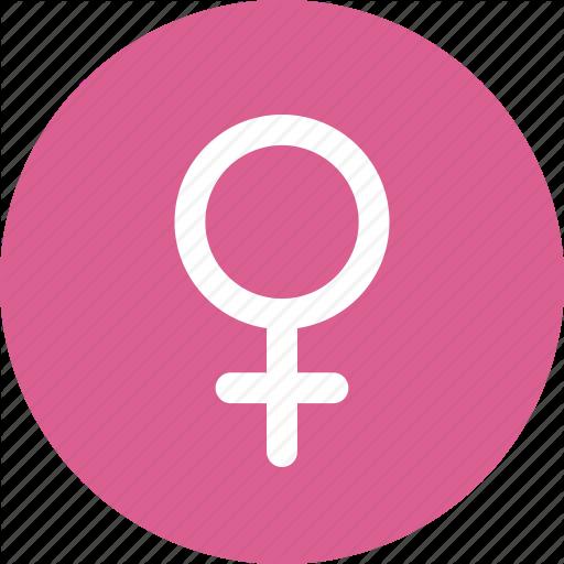 Gender female circle pink 3 512