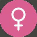 Location gender female circle pink 3 512