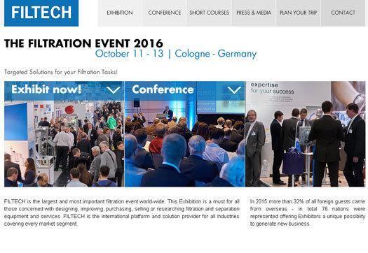 FILTECH 2016 - Cologne (DE)