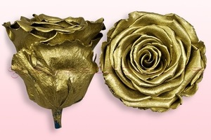 Product box rose amor  preserved roses  metallic gold