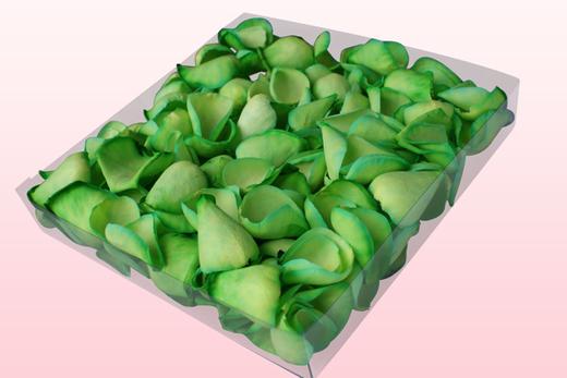 1 Liter Verpakking Met Gevriesdroogde Rozenblaadjes In De Kleur Groen