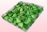 Envase de 1 litro con pétalos de rosa liofilizados de color verde manzana.