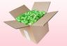 Caja de 8 litros con pétalos de rosa liofilizados de color verde manzana.