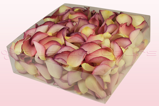 2 litre Box Raspberry & Lemon Coloured Freeze Dried Rose Petals