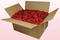Confezione da 24 litri con petali di rosa stabilizzata di colore rosso.