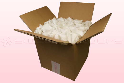 8 Litre box With Preserved White Rose Petals