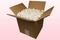 8 Liter Karton Mit Konservierte Weiße Rosenblätter