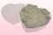Hartvormige Transparante Verpakking Met Witte Geconserveerde Rozenblaadjes