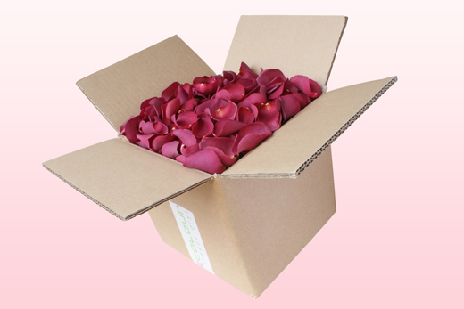 8 Litre Box Mulberry Freeze Dried Rose Petals