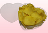 Heart Shaped Box With Yellow Preserved Rose Petals