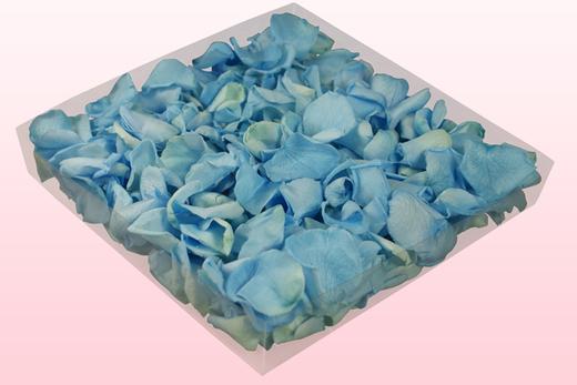 1 Liter Doos Geconserveerde Rozenblaadjes In De Kleur Lichtblauw