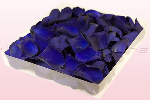 1 Liter Doos Geconserveerde Rozenblaadjes In De Kleur Donkerblauw