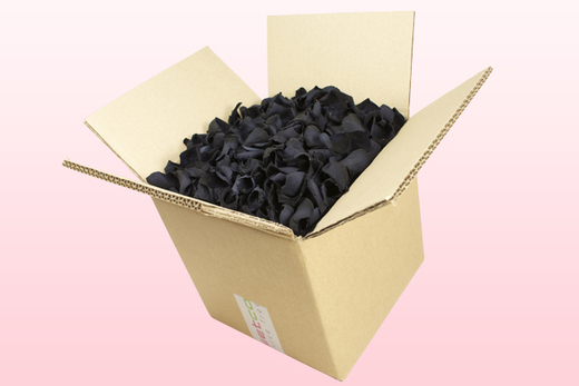 8 Litre box With Preserved Black Rose Petals
