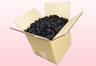 Caja de 8 litros con pétalos de rosa preservados de color negro.