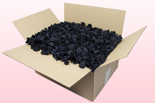 24 Litre box With Preserved Black Rose Petals