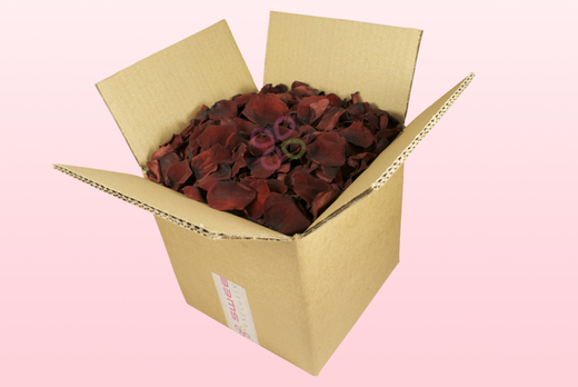 8 Litre box With Preserved Chocolate Rose Petals