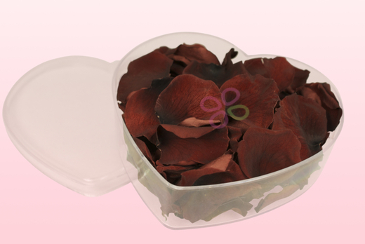 Heart Shaped Box With Chocolate Preserved Rose Petals