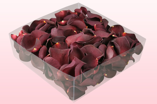 2 Litre Box Burgundy Freeze Dried Rose Petals