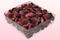 2 Liter Verpackung mit gefriergetrockneten Rosenblättern in der Farbe Weinrot