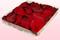 Confezione da 1 litro con petali di rosa stabilizzata di colore rosso scuro.