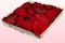 1 Liter Verpackung konservierte Rosenblätter in der Farbe Dunkelrot
