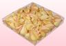 Envase de 1 litro con pétalos de rosa liofilizados de color amarillo-rosa.