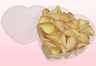 Heart Shaped Box With Lemon Blush Freeze Dried Rose Petals