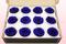 12 konservierte Rosenköpfe, Dunkelblau, Größe M