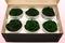 6 Preserved Rose Heads, Dark Green, Size XL