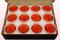12 Rosas Sin Tallo Preservadas, Naranja, Tamaño M