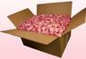 Caja de 24 litros con pétalos de rosa liofilizados de color rosa bébé.