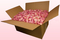 Boîte de 24 litres de pétales de roses lyophilisés couleur rose pâle