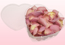 Heart Shaped Box With Candy Pink Freeze Dried Rose Petals